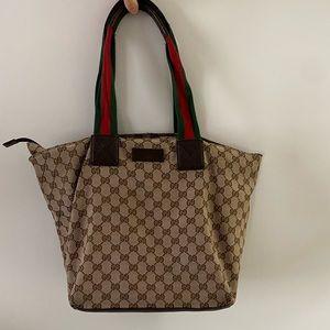 Gucci GG Canvas Tote / Diaper Bag